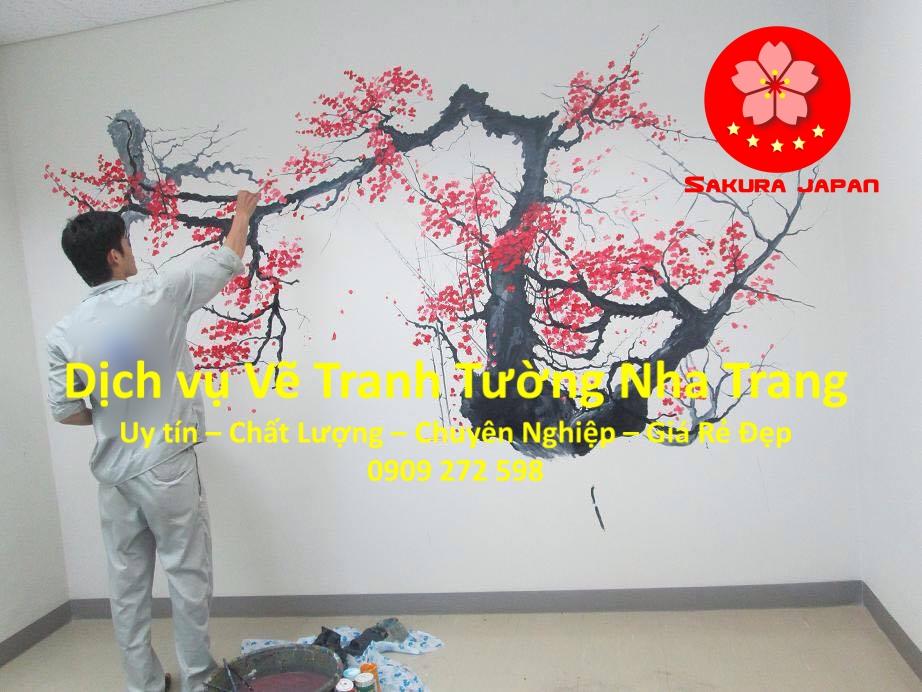 Dịch vụ Vẽ Tranh Tường uy tín rẻ đẹp Nhất Nha Trang Sakura