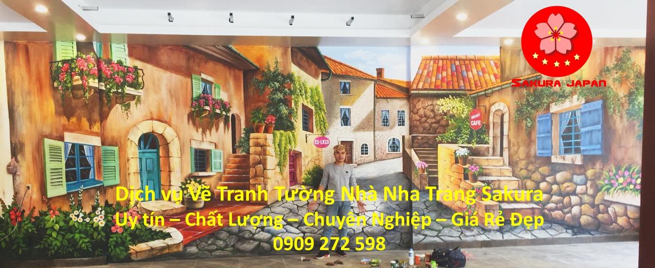 Dịch vụ Vẽ Tranh Tường Nhà Nha Trang Nghệ Thuật Chuyên nghiệp Rẻ Đẹp Nhất