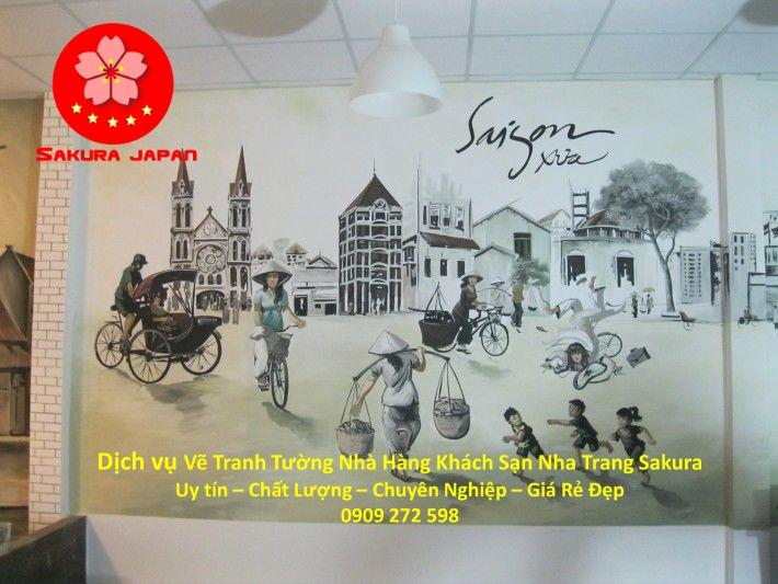 Dịch vụ Vẽ Tranh Tường Nhà Hàng Khách Sạn Nha Trang Đẹp Nhất
