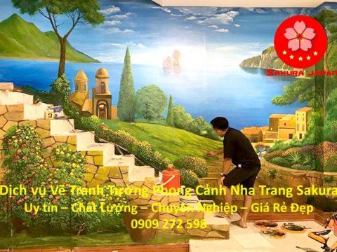 Vẽ Tranh Tường Phong Cảnh Nha Trang