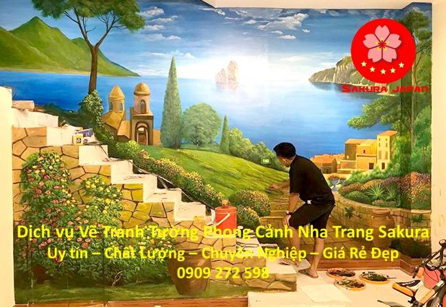 Vẽ tranh tường Phong cảnh tại Nha Trang Rẻ Đẹp nhất 1