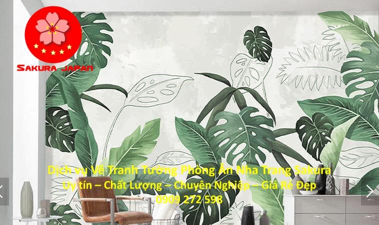 Dịch vụ Vẽ Tường Phòng Ăn tại Nha Trang Nghệ Thuật uy tín Chuyên nghiệp Rẻ Đẹp Nhất 8