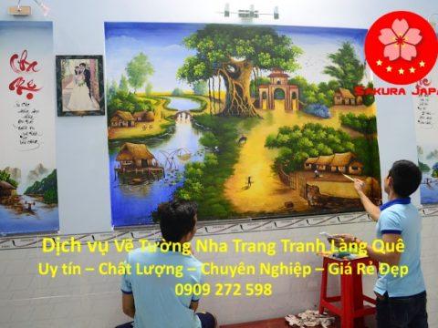 Vẽ Tranh Tường Làng Quê Nha Trang