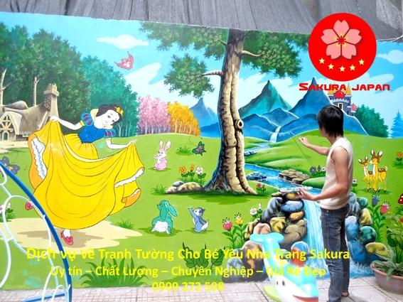 Vẽ Tranh Tường Cho Bé ở tại Nha Trang Rẻ đẹp Nhất
