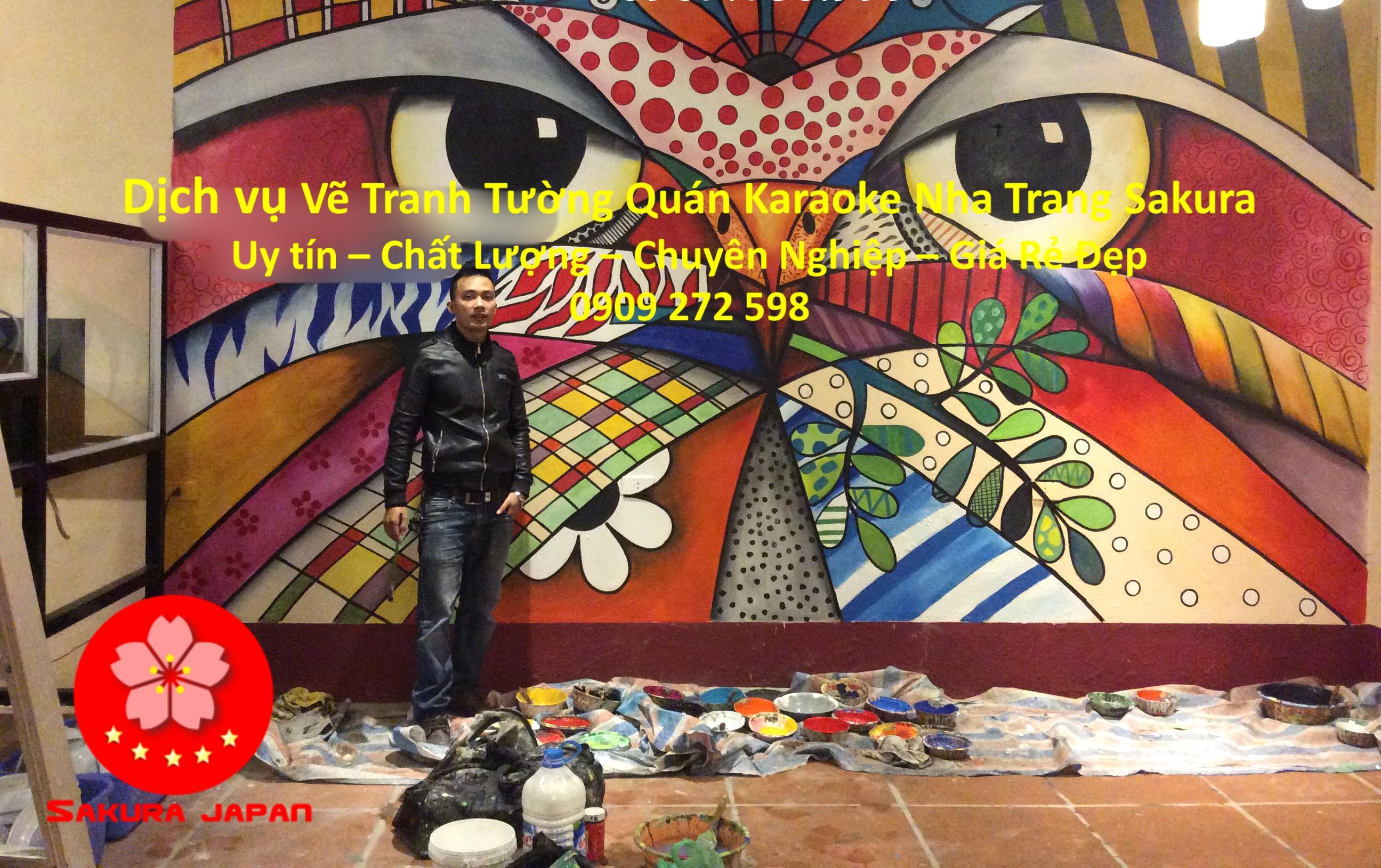 Vẽ Tranh Tường Karaoke Nha Trang rẻ đẹp nhất