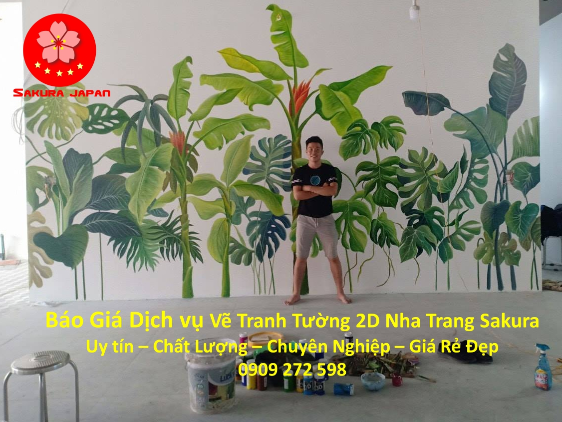 Bảng Báo giá Vẽ Tranh Tường 2D Nha Trang Nghệ Thuật Chuyên nghiệp Giá rẻ đẹp nhất 8
