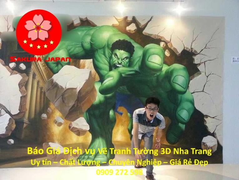Báo Giá Vẽ Tranh Tường 3D Nha Trang Nghệ Thuật Nhất