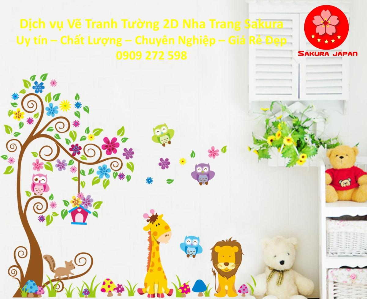 Dịch vụ Vẽ Tranh Tường 2D Nha Trang Nghệ Thuật uy tín Chuyên nghiệp Rẻ Đẹp Nhất 2