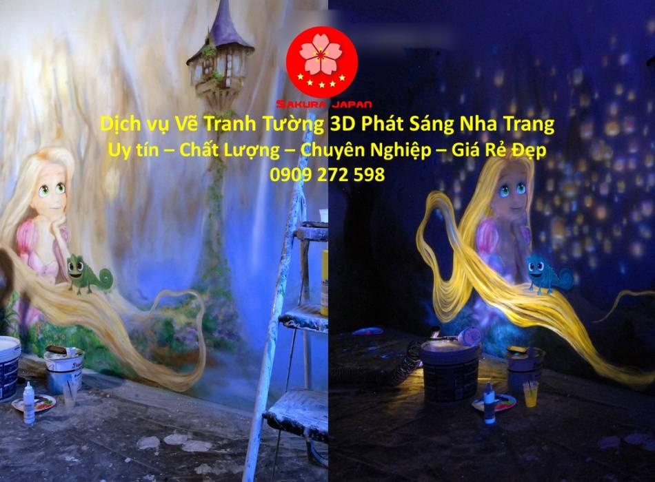 Vẽ Tranh Tường 3D Phát Sáng Nha Trang Giá Rẻ Đẹp Nhất