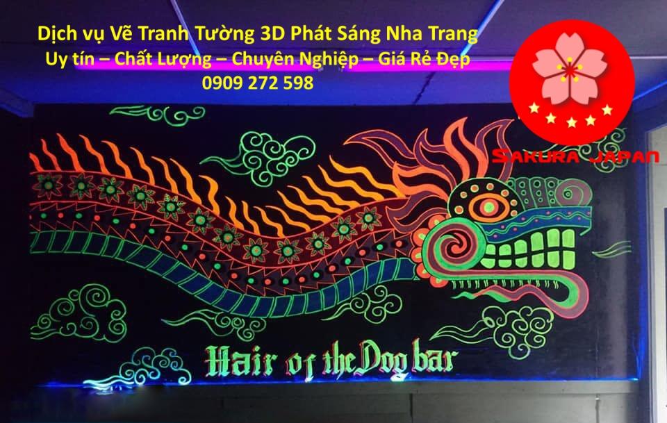 Dịch vụ Vẽ Tranh Tường 3D Phát Sáng Nha Trang