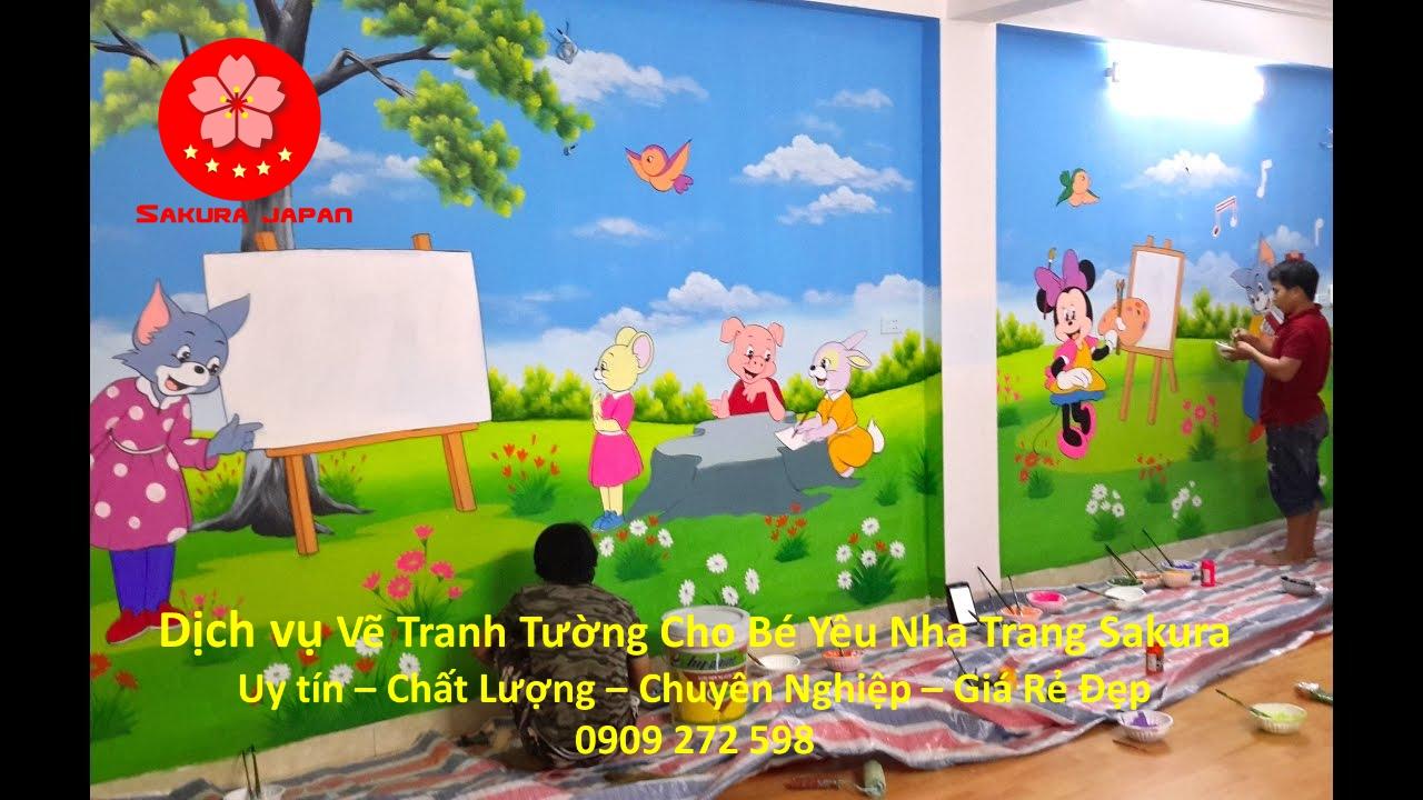 Vẽ Tranh Tường Cho Bé Nha Trang Nghệ thuật Nhất