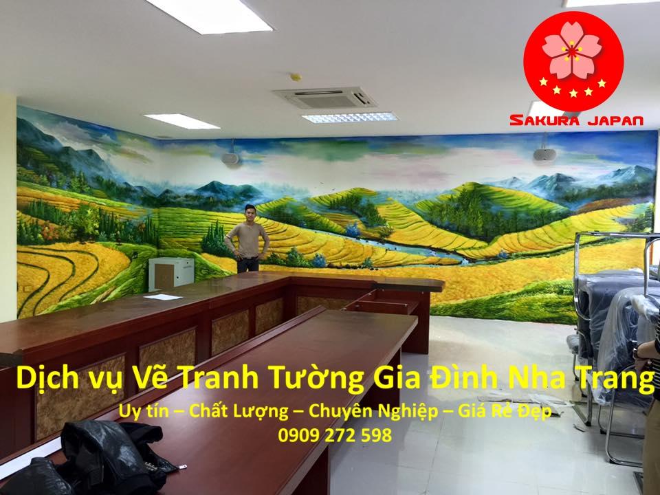 Dịch vụ Vẽ Tranh Tường Gia Đình Nha Trang Rẻ Đẹp Nhất