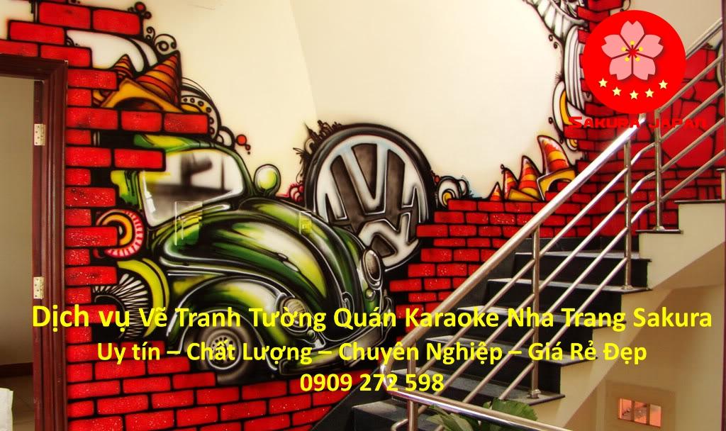 Vẽ Tranh Tường Quán Karaoke Nha Trang Giá Rẻ đẹp nhất 3