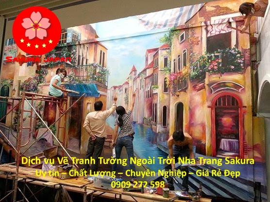 Vẽ tranh tường Ngoài Trời ở tại Nha Trang