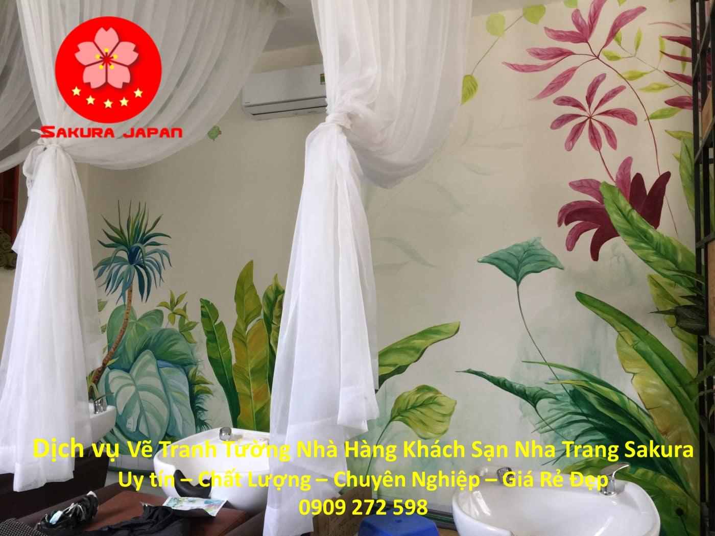Dịch vụ Vẽ Tranh Tường Nhà Hàng Khách Sạn ở tại Nha Trang 4