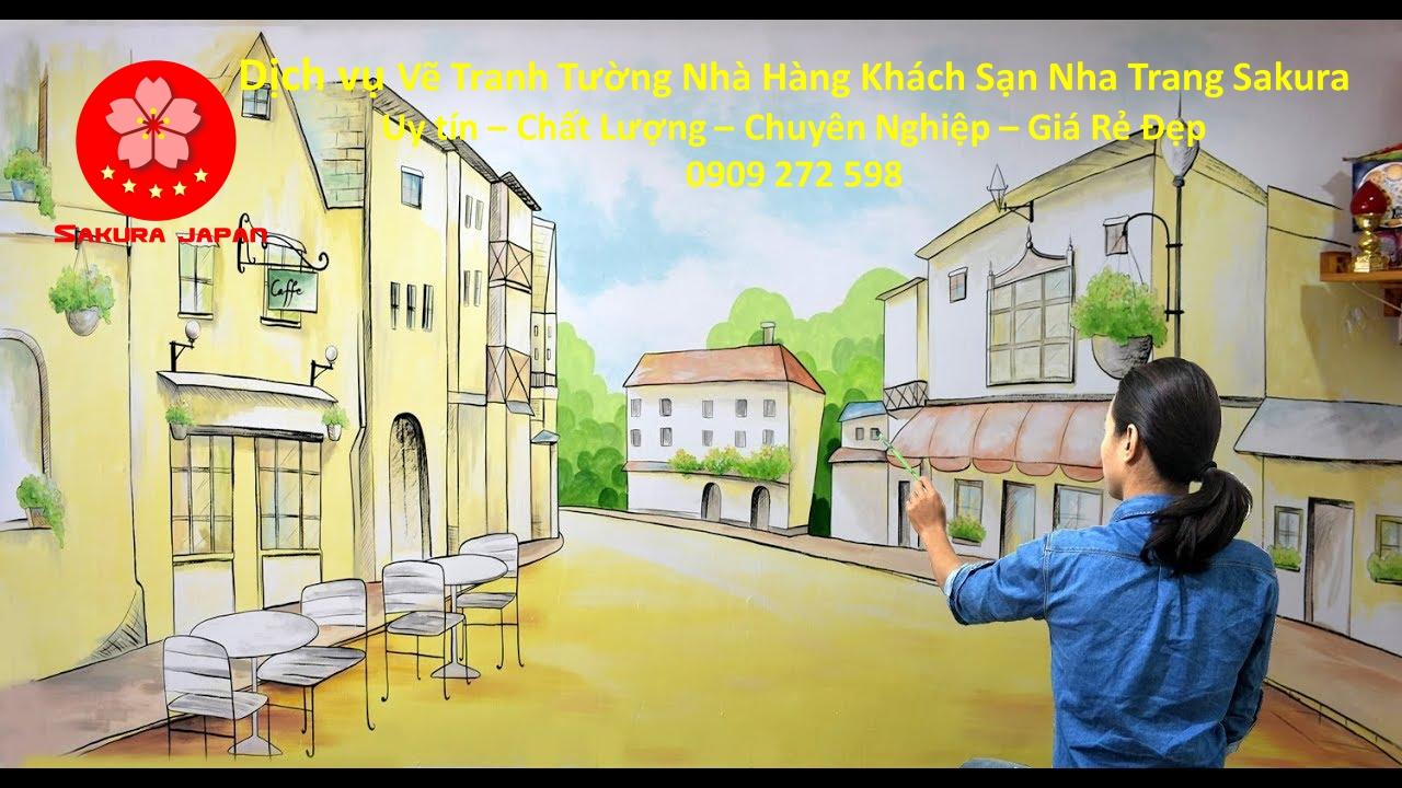Vẽ Tranh Tường Nhà Hàng Khách Sạn Nha Trang Rẻ Đẹp Nhất 5