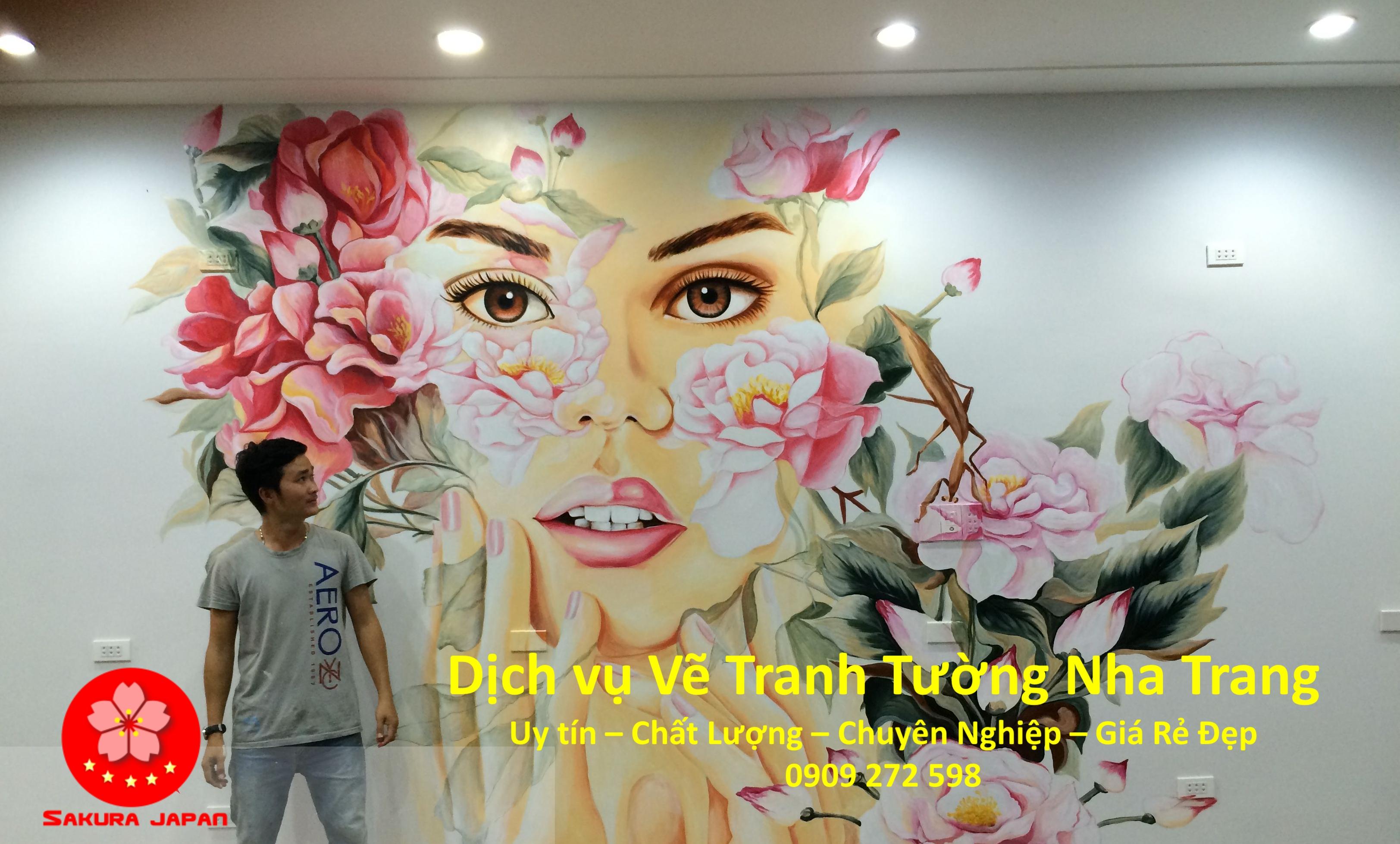 Dịch vụ Vẽ Tranh Tường Nha Trang chuyên nghiệp đẹp Nhất Sakura
