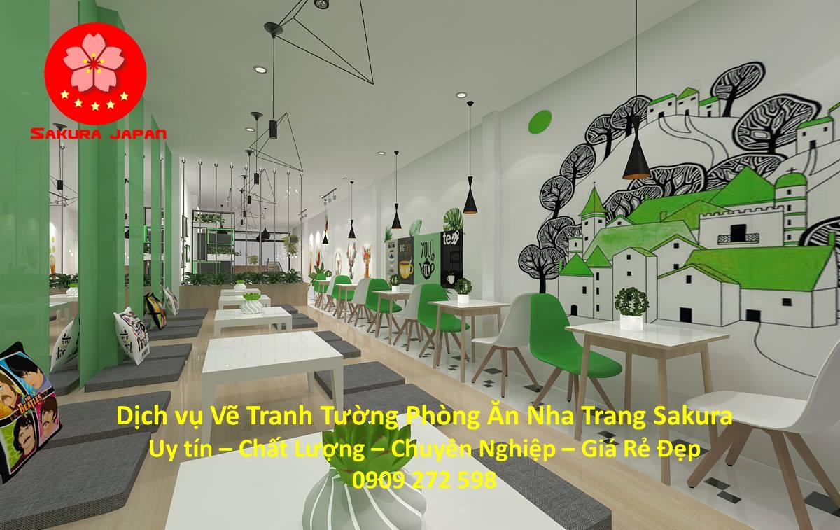 Dịch vụ Vẽ Tường Phòng Ăn tại Nha Trang Nghệ Thuật uy tín Chuyên nghiệp Rẻ Đẹp Nhất 9