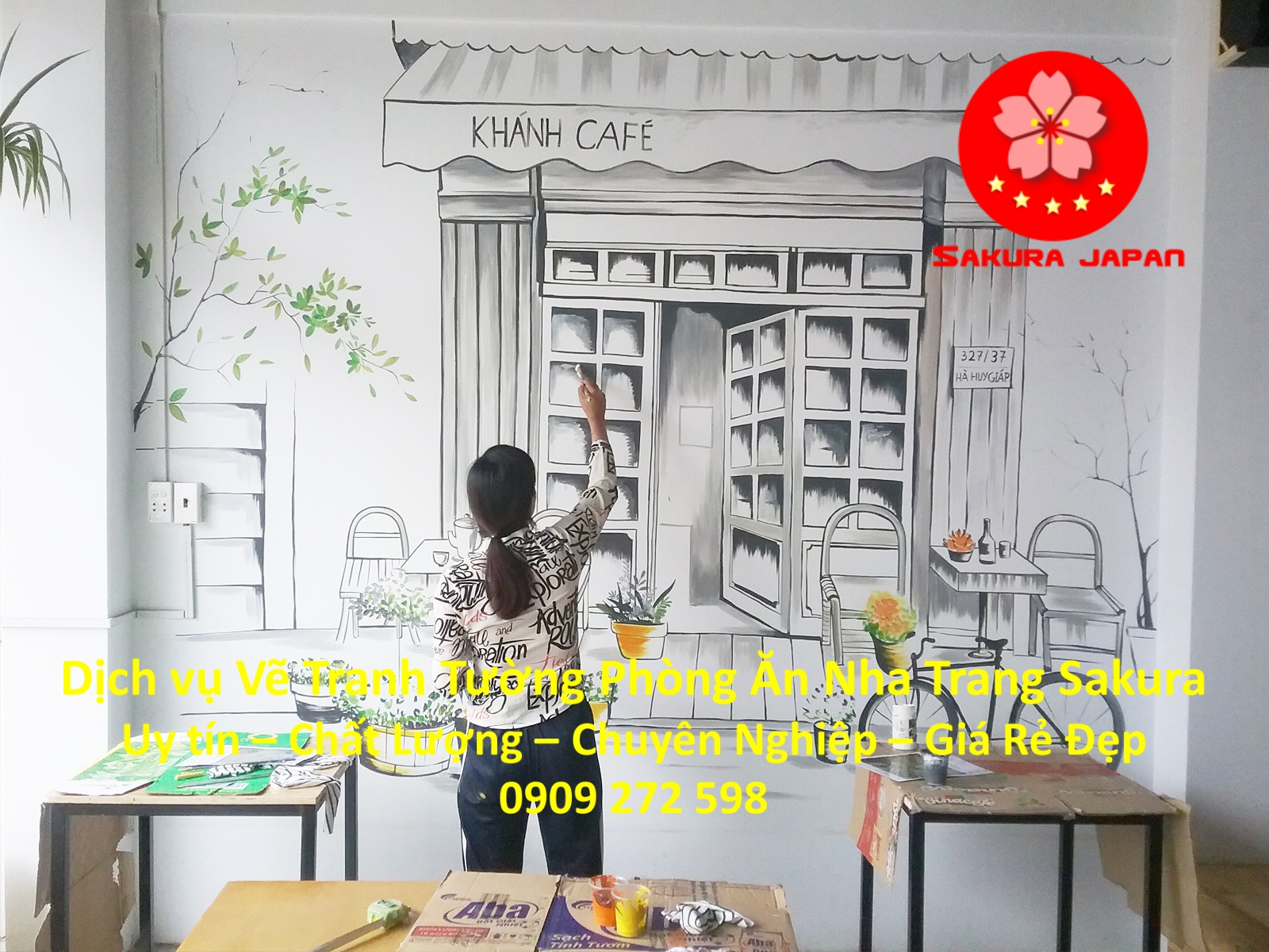 Dịch vụ Vẽ tranh Tường Phòng Ăn Nha Trang Nghệ Thuật uy tín Rẻ Đẹp Nhất