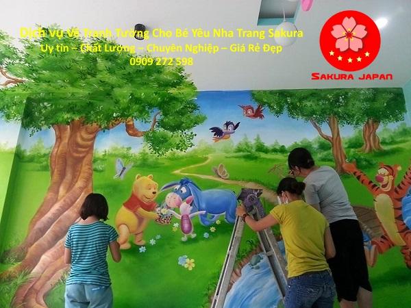 Vẽ tranh tường Cho Bé Nha Trang đẹp Nhất