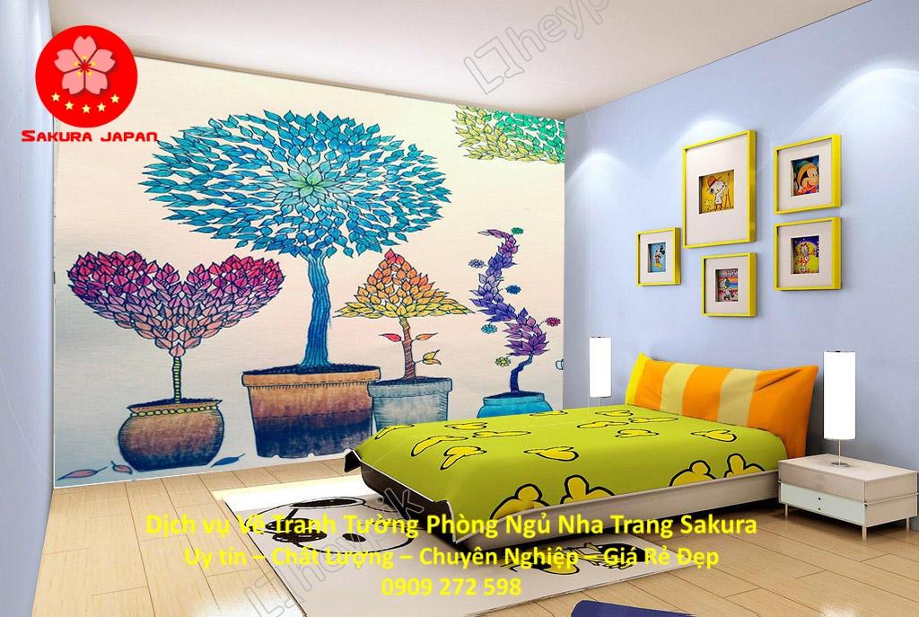 Dịch vụ Vẽ Tường Phòng Ngủ Nha Trang Nghệ Thuật uy tín Rẻ Đẹp Nhất