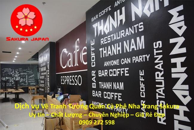 Dịch vụ Vẽ Tranh Tường Quán Cafe ở tại Nha Trang 4