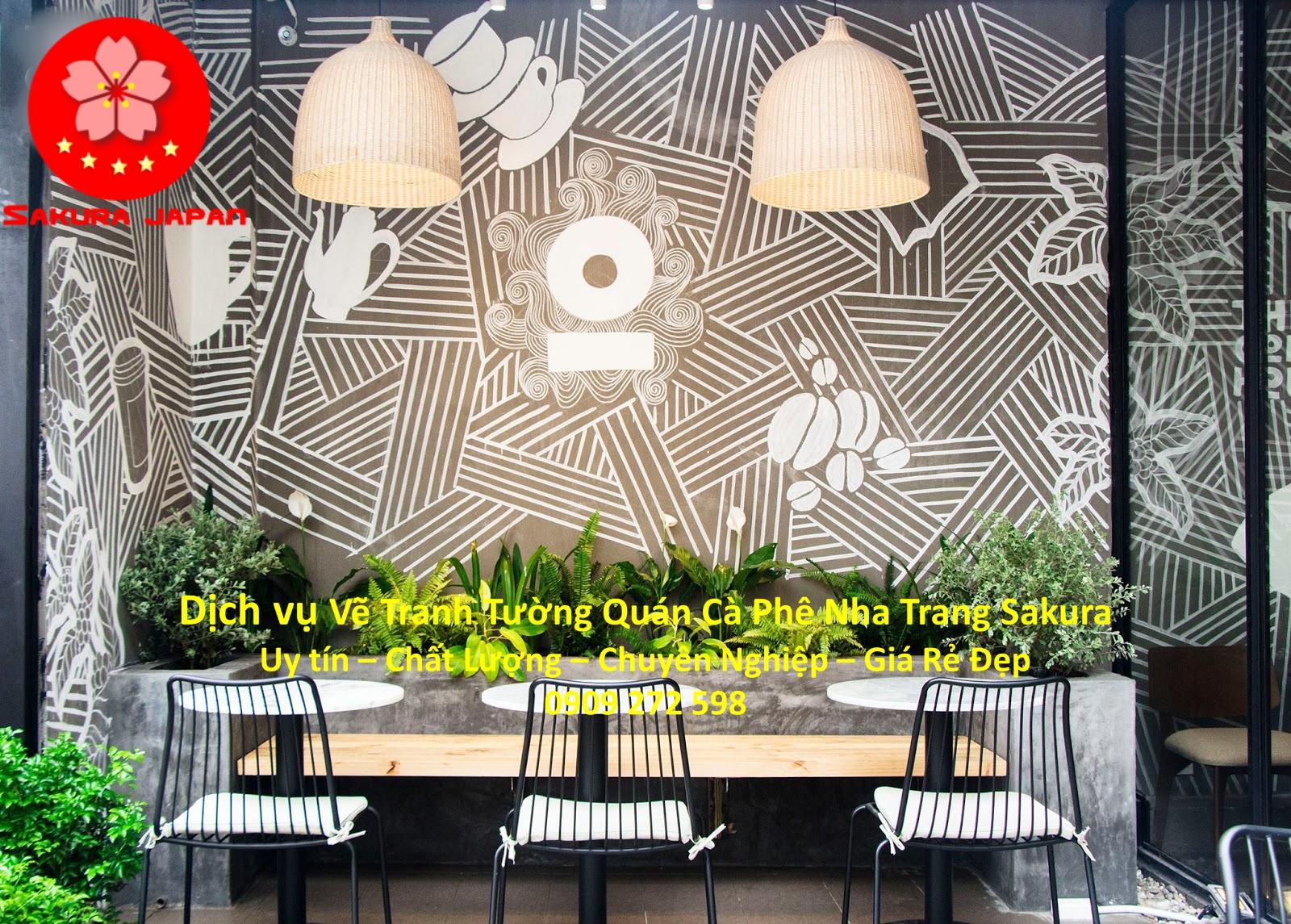 dịch vụ vẽ tranh tường quán cafe nha trang uy tín giá rẻ đẹp nhất