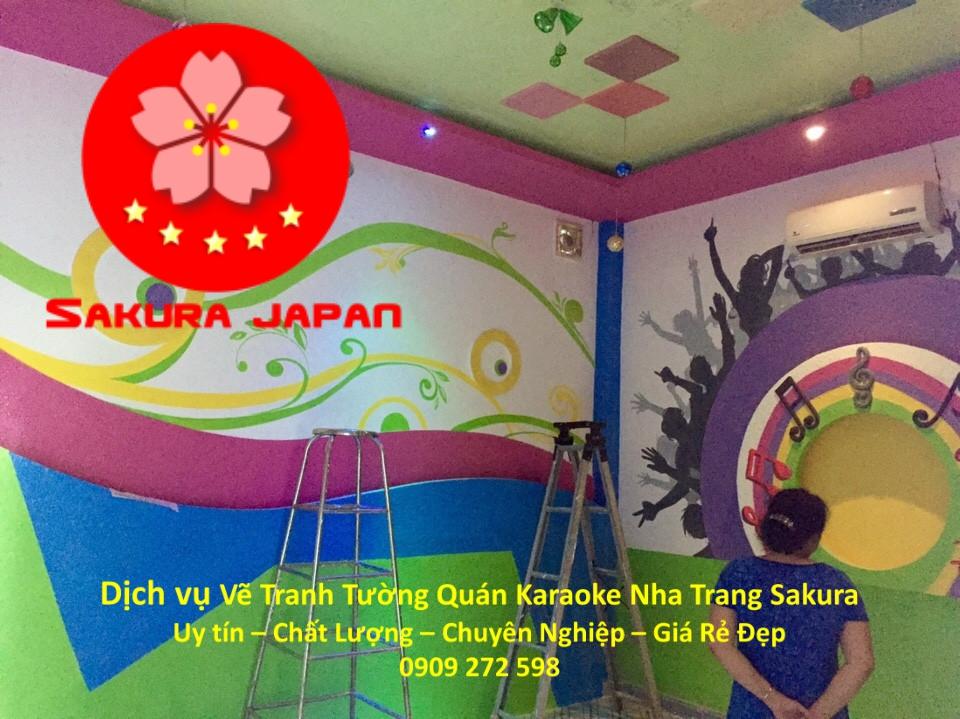 Vẽ Tranh Tường Karaoke ở tại Nha Trang Rẻ Đẹp Nhất