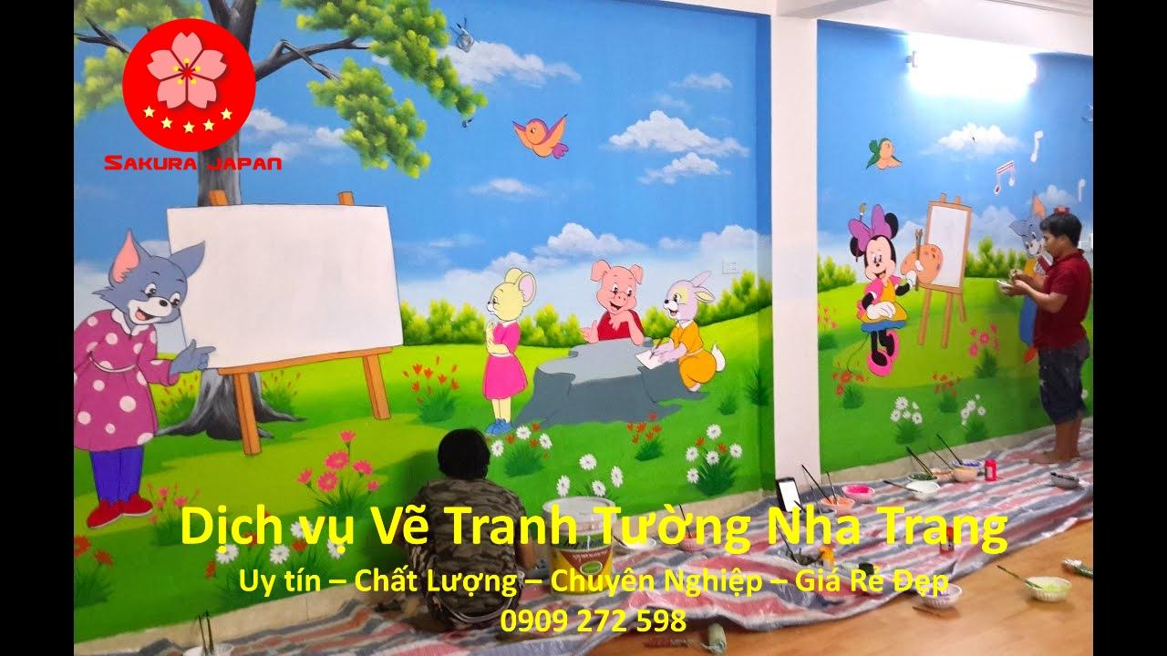 Dịch vụ Vẽ Tranh Tường Nha Trang Chuyên Nghiệp rẻ Đẹp Nhất Sakura