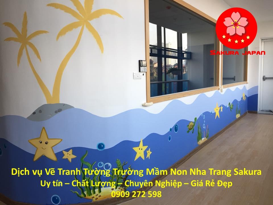 Vẽ Tranh Tường Trường Mầm Non Nha Trang Chuyên nghiệp