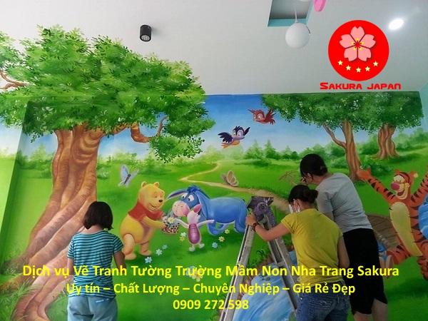 Vẽ Tranh Tường Trường Mầm Non Nha Trang Rẻ Đẹp Nhất