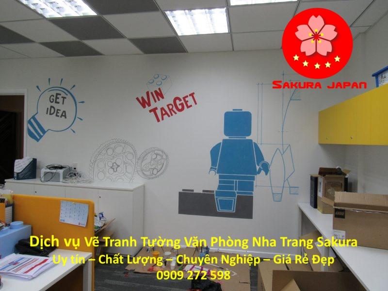 Dịch vụ Vẽ Tranh Tường Văn Phòng ở tại Nha Trang