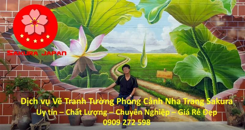 Vẽ tranh tường Phong cảnh tại Nha Trang Rẻ Đẹp nhất 2