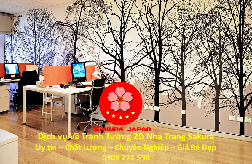Dịch vụ Vẽ Tranh Tường 2D Nha Trang Nghệ Thuật Chuyên nghiệp Rẻ Đẹp Nhất 3