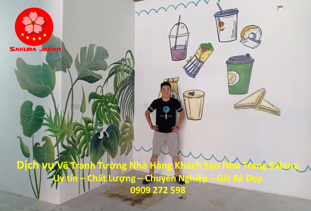 Dịch vụ Vẽ Tranh Tường Nhà Hàng Khách Sạn ở tại Nha Trang 5