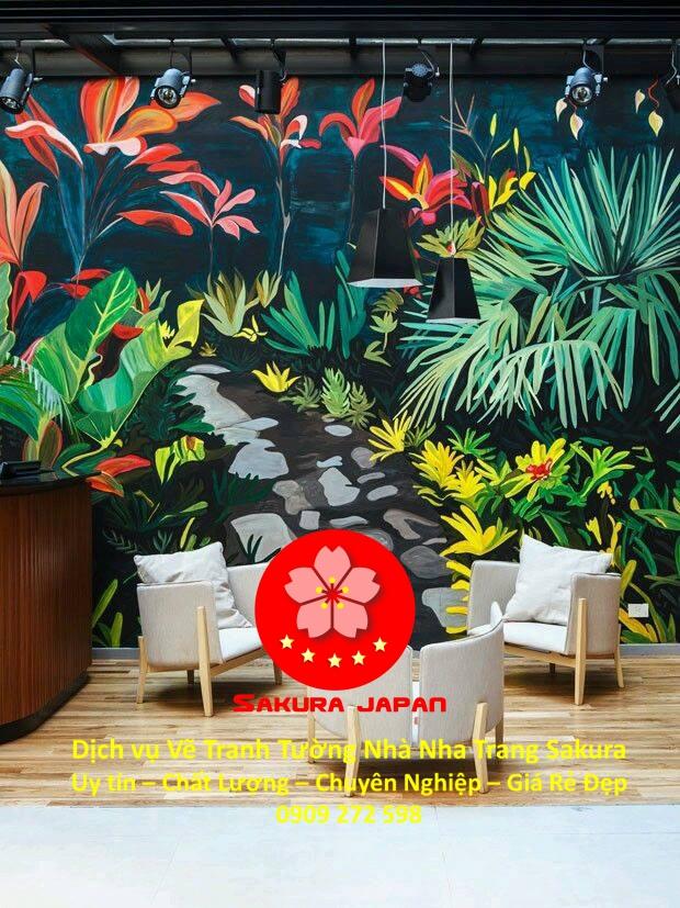Dịch vụ Vẽ Tranh Tường Nhà Nha Trang Nghệ Thuật Chuyên nghiệp Rẻ Đẹp Nhất 4