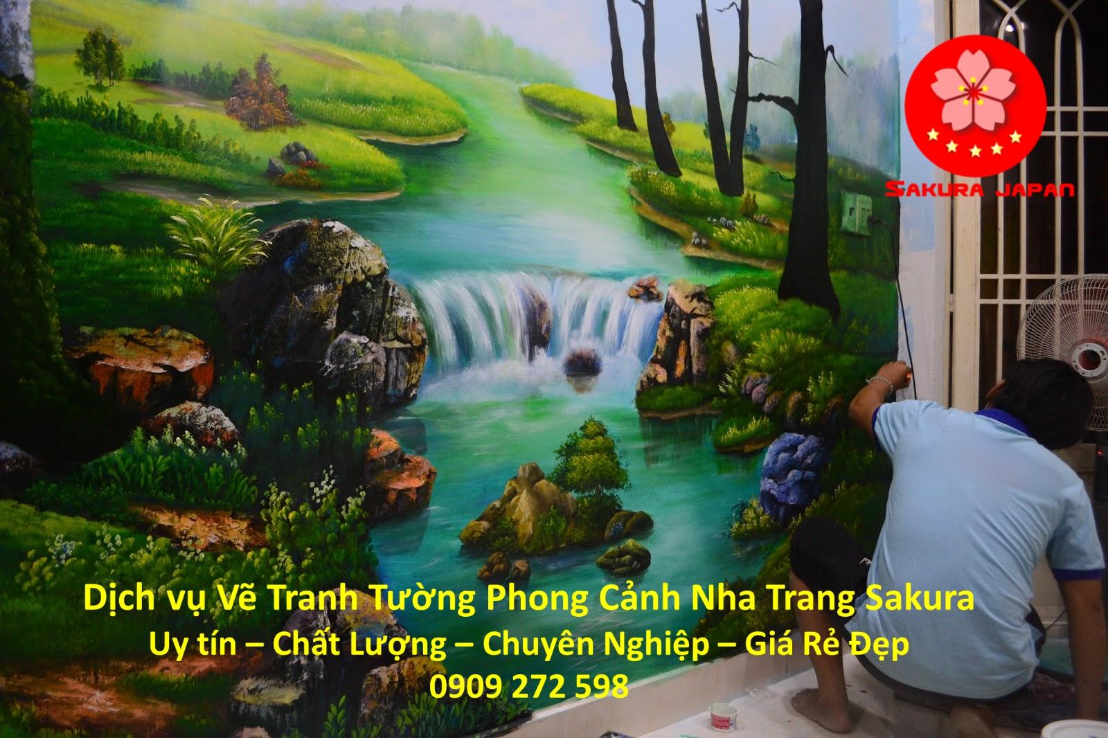 Dịch vụ Vẽ tranh tường Phong cảnh Nha Trang