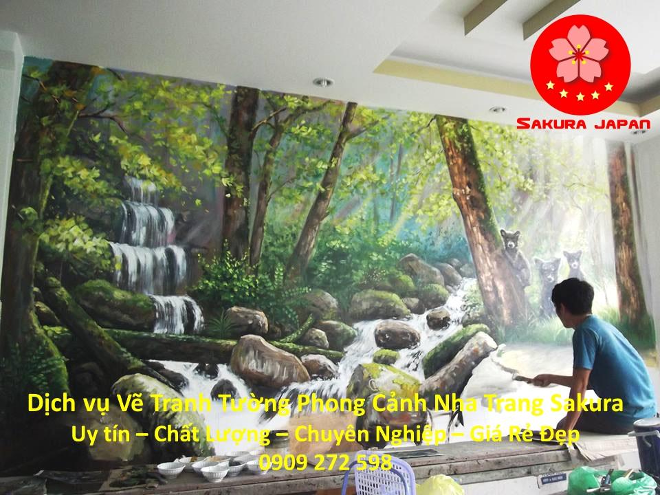 Dịch vụ Vẽ tranh tường Phong cảnh Nha Trang Đẹp Nhất
