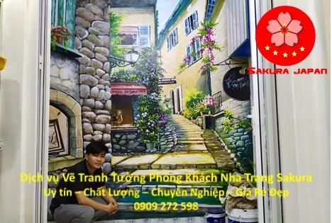 Vẽ Tranh Tường Phòng Khách Nha Trang