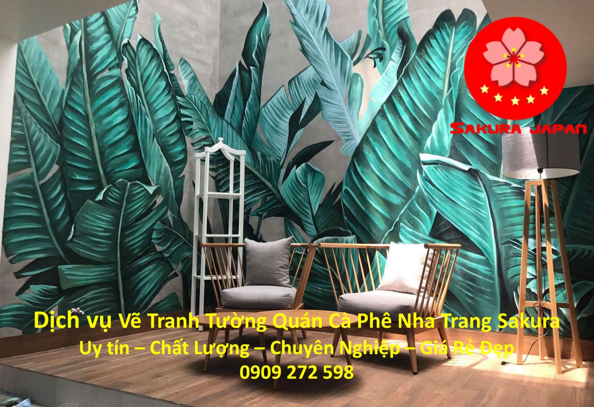 Vẽ Tranh Tường Quán Cafe ở tại Nha Trang rẻ đẹp nhất 6