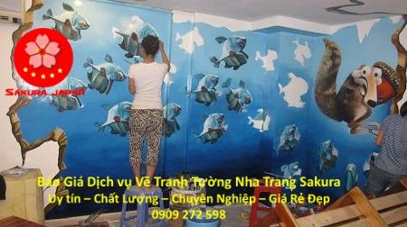 Báo Giá Vẽ Tranh Tường Karaoke ở tại Nha Trang Đẹp Nhất 2
