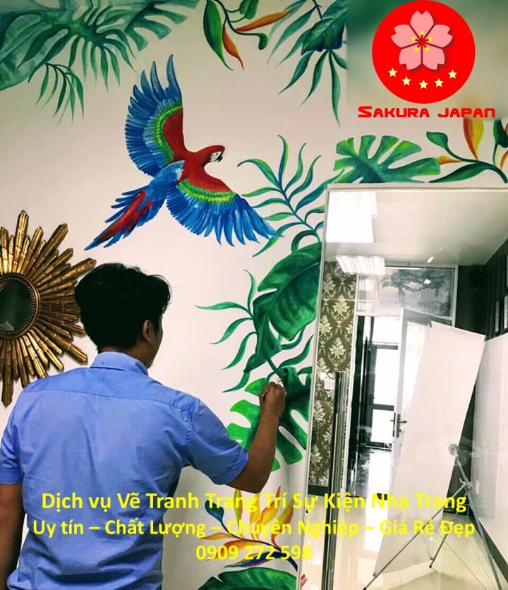 Dịch vụ Vẽ Tường Trang Trí Sự kiện tại Nha Trang