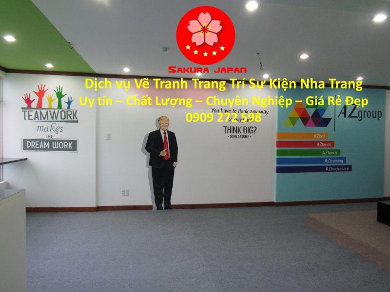Vẽ Tường Trang Trí Sự kiện Nha Trang chuyên nghiệp Nhất