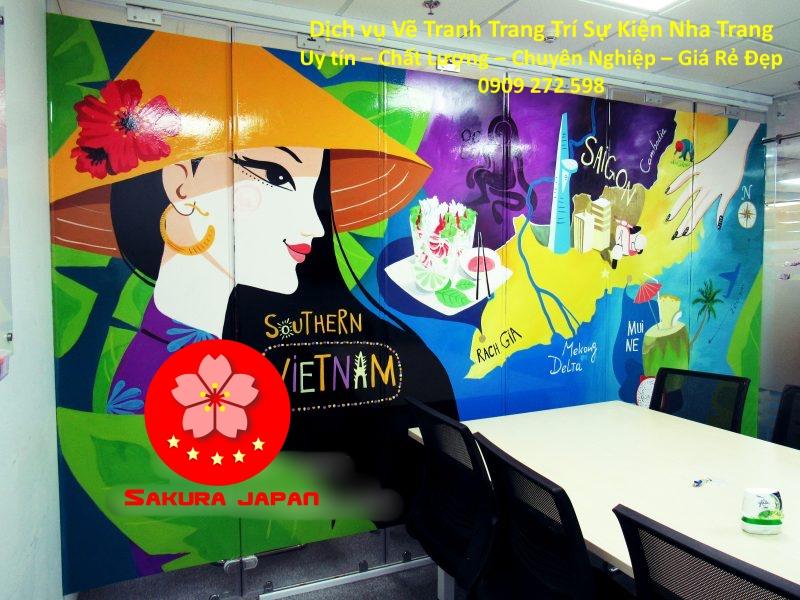 Vẽ Tường Trang Trí Sự kiện Nha Trang Rẻ Đẹp Nhất