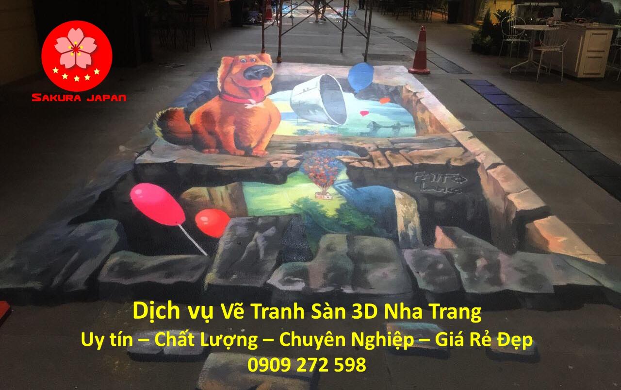Dịch vụ Vẽ Tranh Sàn 3D Nha Trang Chuyên Nghiệp Nhất