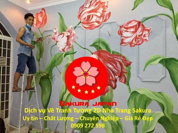 Vẽ Tranh Tường 2D Nha Trang Nghệ Thuật Chuyên nghiệp Rẻ Đẹp Nhất