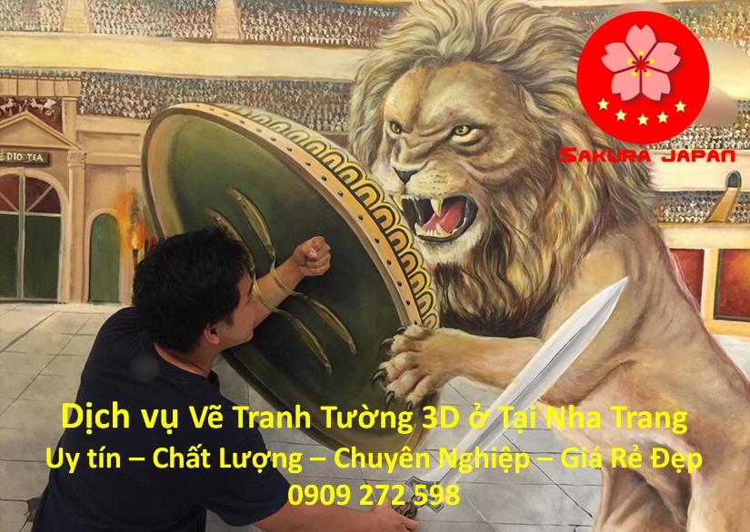 Dịch vụ Vẽ Tranh Tường 3D ở tại Nha Trang
