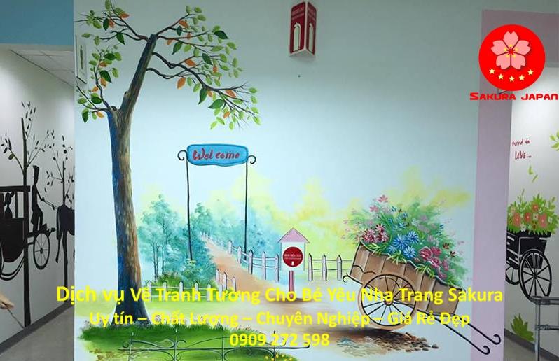 Vẽ Tranh Tường Cho Bé Nha Trang Uy Tín Nhất
