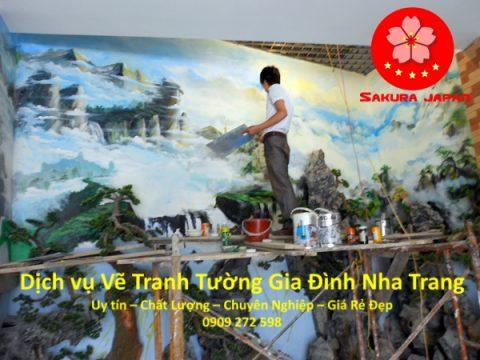 Vẽ Tranh Tường Gia Đình Nha Trang