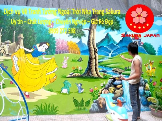 Vẽ tranh tường Ngoài Trời Nha Trang Rẻ Đẹp nhất 2